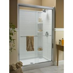 kohler fluence 44in to 47in w x 70in h frameless frameless sliding shower
