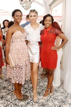 Tika Sumpter, Zendaya and Aja Naomi King