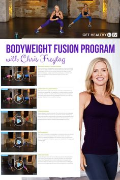 If you're looking to transform your body with full-throttle workouts designed to build muscle and torch calories, Bodyweight Fusion is for you! This bodyweight workout program consists of four workouts that require just your own bodyweight—no equipment necessary—so you can do them anytime, anywhere. Lead by Chris Freytag and Lindsey Bomgren, you'll get your heart pumping as you feel the burn with these interval-style workouts designed to tone you from head-to-toe.