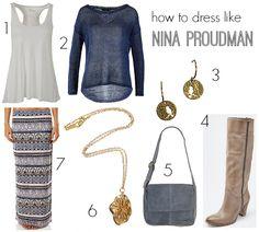 How to dress like Nina Proudman | Outfit inspiration