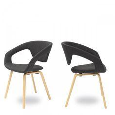 Lot de 2 fauteuils design Flex back Natural