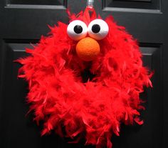 Feather Elmo Wreath