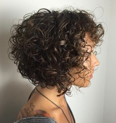 Brown+Bob+For+Curly+Hair