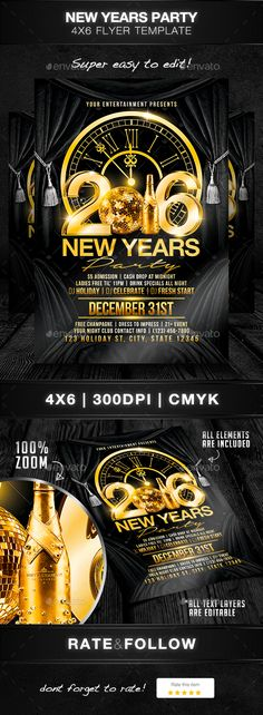 Flyer Banner Or Poster For  New YearS Eve Party Celebration