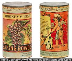 Mooney's Baking Powder - Mooney's Best Baking Powder • Antique Advertising