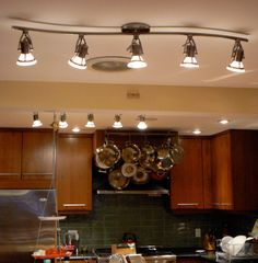 11 Stunning Photos of Kitchen Track Lighting  Kitchen lighting