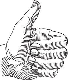 Thumbs Up Hand Drawing