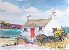 Signed Original Watercolour -Sunny Day - by Annabel Burton #IllustrationArt