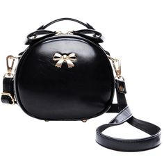 Blackfive Solid Tone Bow Embellished Leather Crossbody Bag ($33) ❤ liked on Polyvore featuring bags, handbags, shoulder bags, blackfive, borse, purses, leather crossbody handbags, leather cross body purse, crossbody purse and crossbody shoulder bags