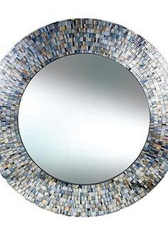 Bring a little sparkle to your home's decor with the Lustrous Wall Mirror that boasts stunning hand placed glass pieces that surround beveled silvered glass.