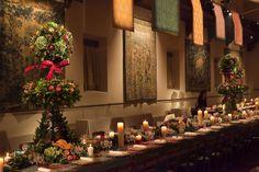 Flower sculpture on table set #apple, #flower, #design, #scene, #scenography, #venice Matteo Corvino