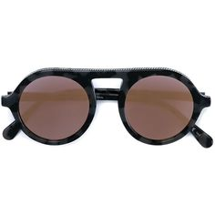Stella McCartney round chain tortoise sunglasses (€295) ❤ liked on Polyvore featuring accessories, eyewear, sunglasses, glasses, grey, tortoise shell sunglasses, round tortoise sunglasses, rounded sunglasses, tortoise shell glasses and colorful sunglasses