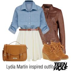 Lydia Martin inspired outfit/Teen Wolf by tvdsarahmichele on Polyvore featuring moda, Kelsi Dagger Brooklyn, Georges Rech and Maison Boinet