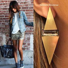 #humbertobijouterias #earring #brinco #Douradoenvelhecido #streetstyle