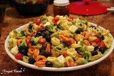 DEELISH!  Tortellini Salad for a Crowd   Frugal Feasts