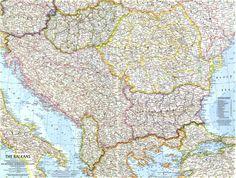 Map: Europe - The Balkans National Geographic Maps, Vintage World Maps, Geek Stuff, Europe, Wanderlust, Geek Things