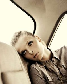 Signe Vilstrup | The Margit Brandt A2011 Campaign is Youthful High Fashion #fashion #photography - pose in limo