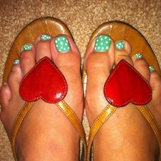 My summer toes in dolce and gabanna flops