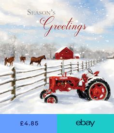 Farm Red Tractor Charity Christmas Cards Pack of 5 Horses in Snow Art Xmas Cards Pallet Christmas, Christmas Crafts, Christmas Decorations, Christmas Ornaments, Holiday Decor, Charity Christmas Cards, Xmas Cards, Red Tractor, Tractors