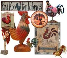 Red Rooster Fabrics www.redroosterfabrics.com Jennifer Chiaverini I know someone who would love me for these... ha.