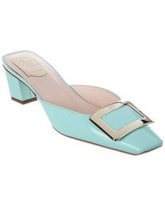 Check out this incredible steal on Gilt. Roger Vivier, Timeless Elegance, Metal Buckles, Smooth Leather, Baby Blue, Patent Leather, Heeled Mules, Product Launch, The Incredibles