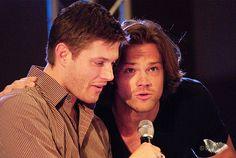 Cute Jensen and puppy.