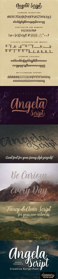 Angela Script Font Fancy Fonts, Script Fonts, You Funny, Language, Design, Stylish Fonts, Language Arts, Design Comics, Handwriting Fonts