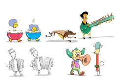 """The Simpsons """"Silly Simpsony"""" """"MusicVille"""" characters."""