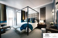 LINLEY Interior Design has produced design options for the interiors of a series of penthouses and apartments at Knightsbridge Private Park. #Interior #Design #Home #Decorating #Bedroom
