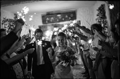 Wedding Sparklers! Photo by Neil Palmer