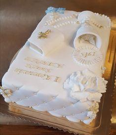 Kommunion - cake for boys Boy Communion Cake, First Holy Communion Cake, Comunion Cakes, First Communion Decorations, Baptism Decorations, Bible Cake, Confirmation Cakes, Baptism Cakes, Religious Cakes