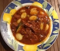 Quick beef casserole with Gnocchi