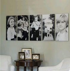 fotos de familia em quadros de parede decorativos