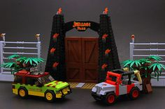 Welcome to Jurassic Park! by Legohaulic Some commissioned models from Jurassic Park.