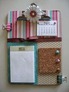 Tableros o bloc de notas con corcho   Manualidades