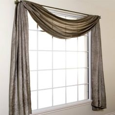 """Silkanza 216? Long Crushed Semi Sheer Voile Scarf Window Valance by Softline by Softline Home Fashions. $79.99. Luxurious Faux Silk Rod Pocket Curtain Panel 55% Polyester / 45% Nylon Faux Silk Taffeta Curtain fabric 55"""" Wide Pocket Panel 3"""" Rod Pocket, 4"""" Bottom Hem, 1"""" Double Folded Side Hems Extra long window curtains now available in 4 lengths: 84"""" long, 96"""" long, 108"""" long and 120"""" long Available in a full color palette Panels sold individually All grommets are Chocola..."""