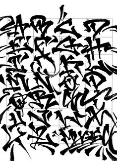 Graffiti Letters: 61 graffiti artists share their bomb science style - Graffiti Text, Graffiti Lettering Alphabet, Chicano Lettering, Graffiti Tattoo, Graffiti Tagging, Graffiti Drawing, Street Art Graffiti, Cartoon Graffiti, Caligraphy Alphabet