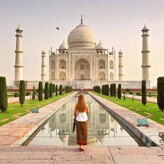 Our take on the classic shot from the amazing Taj Mahal mausoleum in Agra (India). Photo by @travelplusstyle http://ift.tt/1p42hrU  #TajMahal #Travel #TravelStyle #India #Agra #travelblogger #utterpradesh #architecture #minarets #tomb #mausoleum #mustsee #travelpic #luxurytravel #holiday #vacation #Asia #TravelPhotography #Travel #TravelStyle #sunrise #wanderlust #amazing #instatravel #travelgram #lifestyle #travelblog #travelphoto #reflection #architecture by travelplusstyle