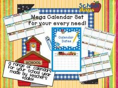 Mega Calendars Pack - School dates sorted! Critical Thinking Activities, All About Me Activities, Critical Thinking Skills, Classroom Displays, Classroom Organization, Classroom Management, Classroom Ideas, Preschool Ideas, Teaching Ideas