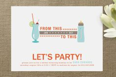 That was Then / This is Now Baby Shower Invitations by Jennifer Postorino at minted.com