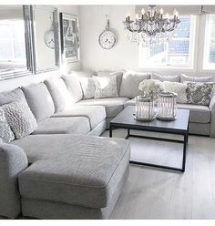 Exceptional small living room designs are available on our website. Check it out and you wont be sorry you did. Small Living Room Design, Living Room Decor Cozy, Elegant Living Room, Living Room Grey, Home Living Room, Living Room Designs, Modern Living, Living Room With Sectional, Apartment Living