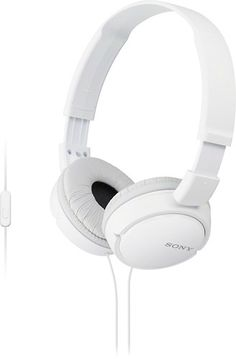 These Sony ZX Series MDRZX110/WHI headphones feature neodymium magnets and 30mm drivers for powerful, reinforced sound. Enjoy your favorite songs with lush bass response thanks to the Acoustic Bass Booster technology.