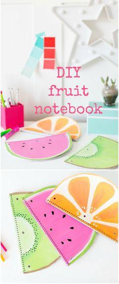 cutest little fruit notebooks