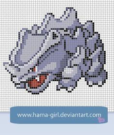 Rhyhorn by Hama-Girl.deviantart.com on @deviantART