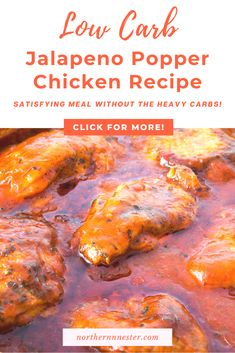 Try our low carb jalapeno popper chicken recipe for a tasty slimming & satisfying meal! With a hot and creamy sauce, these delicious meal tastes so good you won't believe it is entirely on plan! #lowcarbchickenrecipes #lowcarbjalapenopopperchicken #lowcarbchicken Best Low Carb Recipes, Low Carb Chicken Recipes, Jalapeno Popper Chicken, Jalapeno Poppers, Tasty, Yummy Food, Low Carb Breakfast, Creamy Sauce, Dinner Recipes