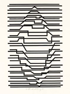 ilovetocollectart: Victor Vasarely - Untitled, 1963, screenprint on paper