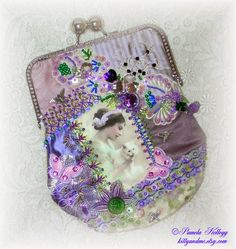 Crazy Quilting and Embroidery Blog by Pamela Kellogg of Kitty and Me Designs: Crazy Quilt Clutch Purses