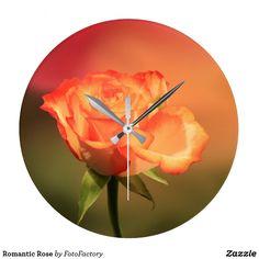 Romantic Rose Large Clock