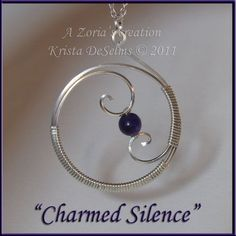"""Piece # 167 """"Charmed Silence"""" A Zoria's Creation. - Piece # 167 """"Charmed Silence"""" A Zoria's Creation. Krista DeSelms Amethyst wrapped in - Wire Jewelry Making, Metal Jewelry, Beaded Jewelry, Handmade Jewelry, Wire Jewellery, Handmade Copper, Jewellery Making, Unique Jewelry, Wire Necklace"""