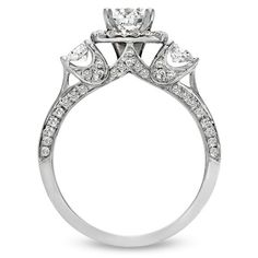 1-1/2 CT. T.W. Diamond Three Stone Engagement Ring in 14K White Gold